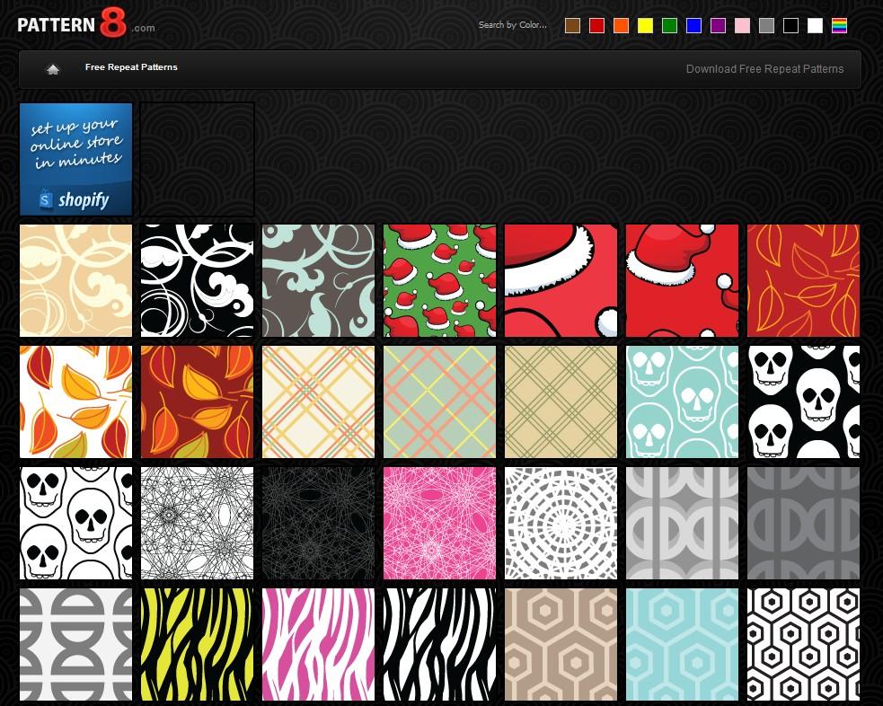 pattern8シームレスなパターン素材フリー素材サイト